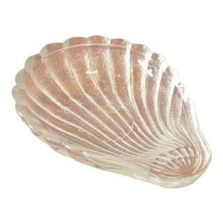 Vintage Glass Sea Shell Dish
