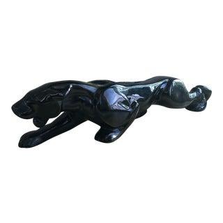 1970s Vintage Haeger Black Panther Figurine For Sale