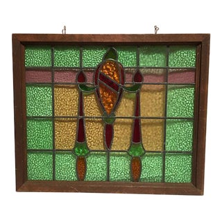 Large Stained Glass Craftsman Style Window