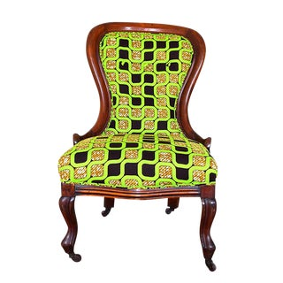 Vintage Victorian Spoon-Back Chair For Sale