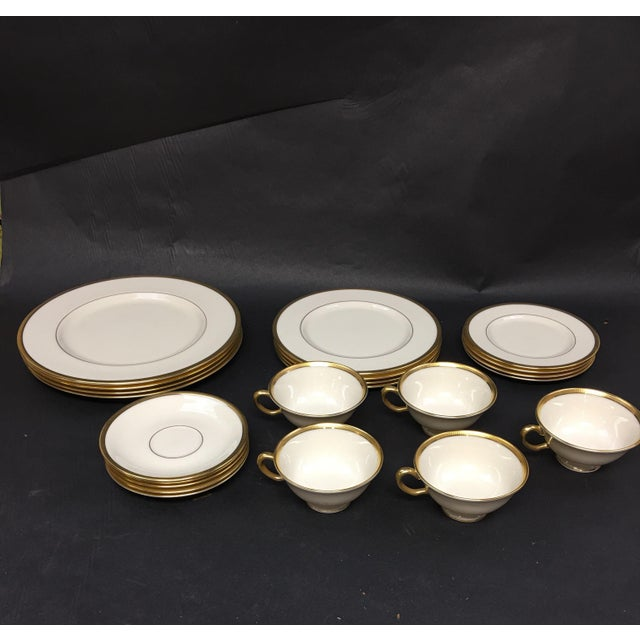 Lenox Tuxedo China Place Settings for Four Plus Extra Cup and Saucer - 22 Pieces For Sale In Washington DC - Image 6 of 6
