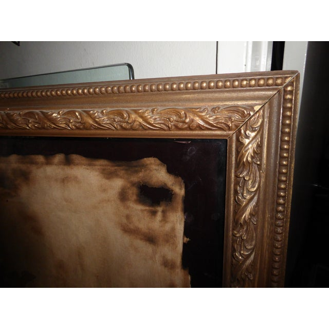 "Large 60""x47"" Shadow Box Wall Mantle Picture Framed on Canvas Pirate Latin Saying - Image 7 of 10"