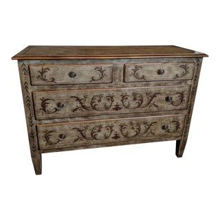 Drexel Heritage Paint Decorated Commode For Sale