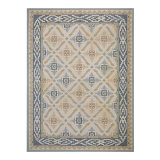 Antique Indian Dhurrie Rug 8' 8'' X 11' 4'' For Sale