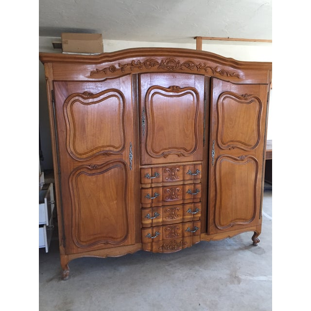 Antique French Wardrobe - Image 2 of 4