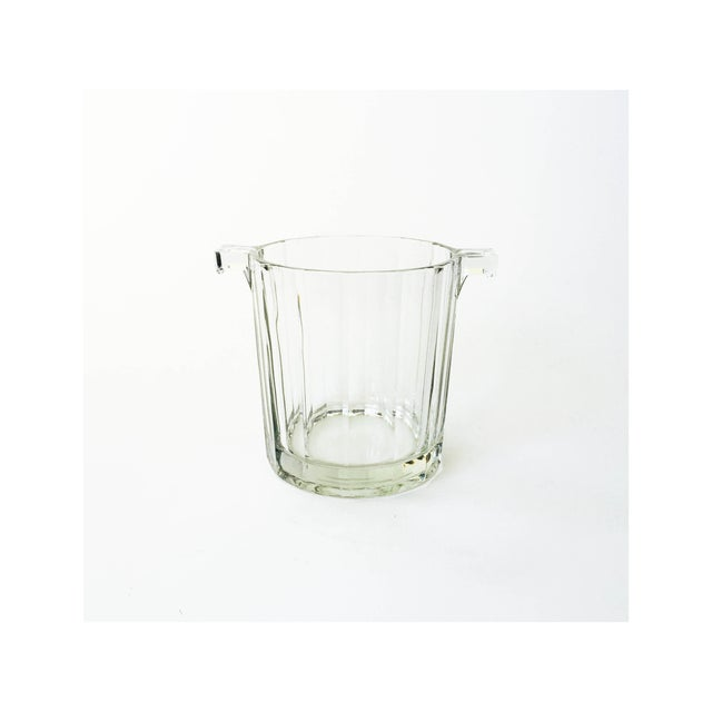 Vintage Faceted Glass Ice Bucket - Image 2 of 4
