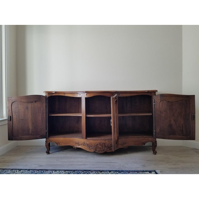 """We purchased this beautiful antique French carved walnut """"enfilade"""" sideboard at Great Things Antiques in Carmel-by-the-..."""