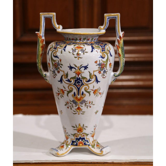 Make a statement of beauty with this elegant, antique vase. Crafted in Normandy, France, circa 1870, the vase is a true...
