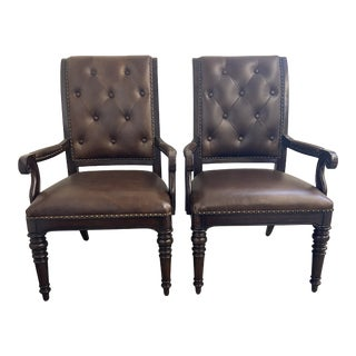 Lexington Hastings Upholstered Chairs - a Pair For Sale