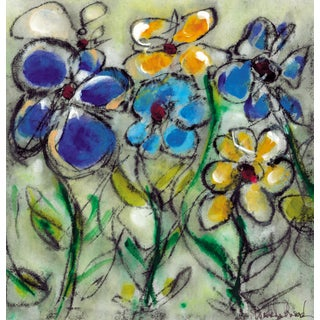 """Modern Chic Floral """"Butter Flowers"""" Print For Sale"""