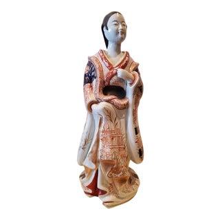 "Japanese Arita Porcelain Figure ""Bijun"" For Sale"