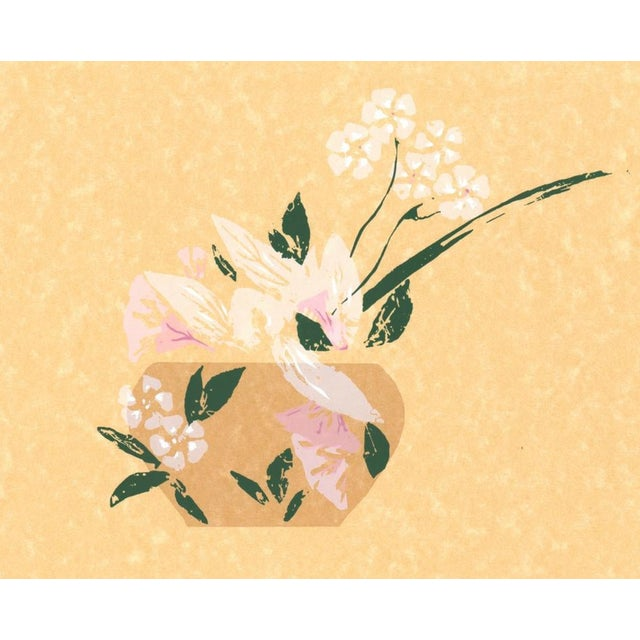 1980s Modern Asian Style Still Life Serigraph For Sale