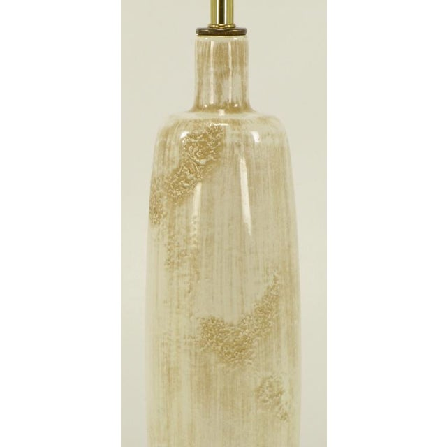 Frederick Cooper Hand Thrown & Relief Glazed Ceramic Table Lamp - Image 5 of 7