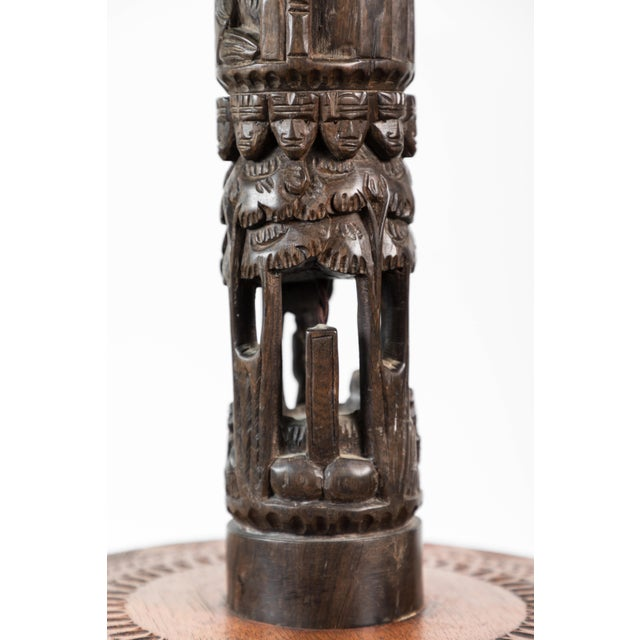 Wood French African Floor Lamp For Sale - Image 7 of 10
