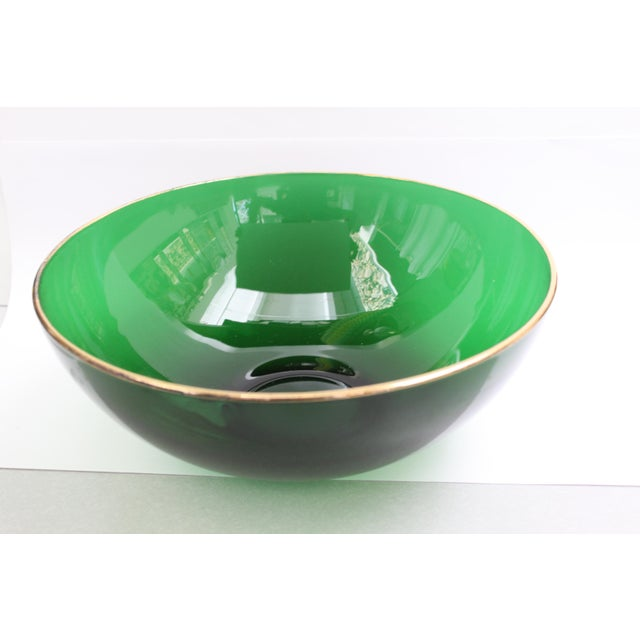 Round Emerald Green Bowl - Image 4 of 4