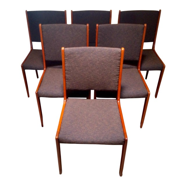 Farso Stolefabrik Teak Danish Modern Dining Chairs - Set of 6 - Image 1 of 11
