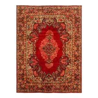 Red Antique Persian Sarouk 10' 3'' X 13'11'' For Sale