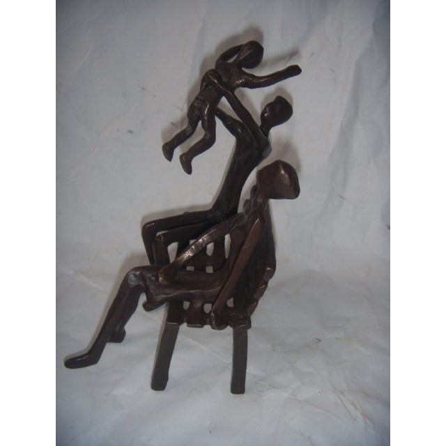 Family on Bench Bronze Sculpture - Image 7 of 8