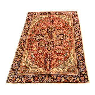 1950s Vintage Ahar Persian Area Rug - 7′3″ × 10′3″ For Sale