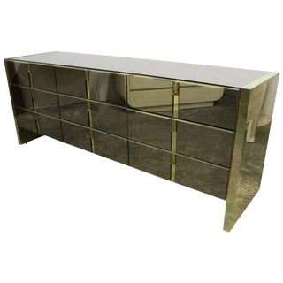 Ello Bronze and Mirrored Dresser For Sale