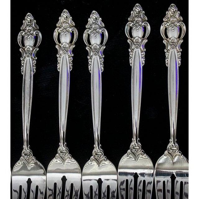 Metal Vintage International Silverplate Empress Pattern Flatware - 50 Pieces For Sale - Image 7 of 8