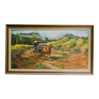 Lee Hirano Oil on Canvas Mountain Landscape Painting