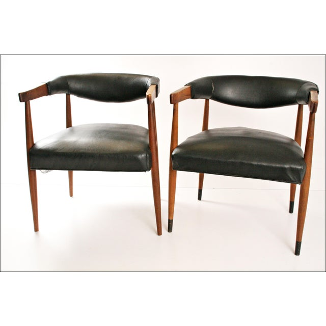 Danish Modern Accent Chairs - Pair - Image 7 of 11