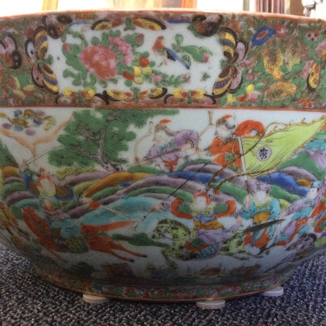 Green Chinese Export Punch Bowl For Sale - Image 8 of 9