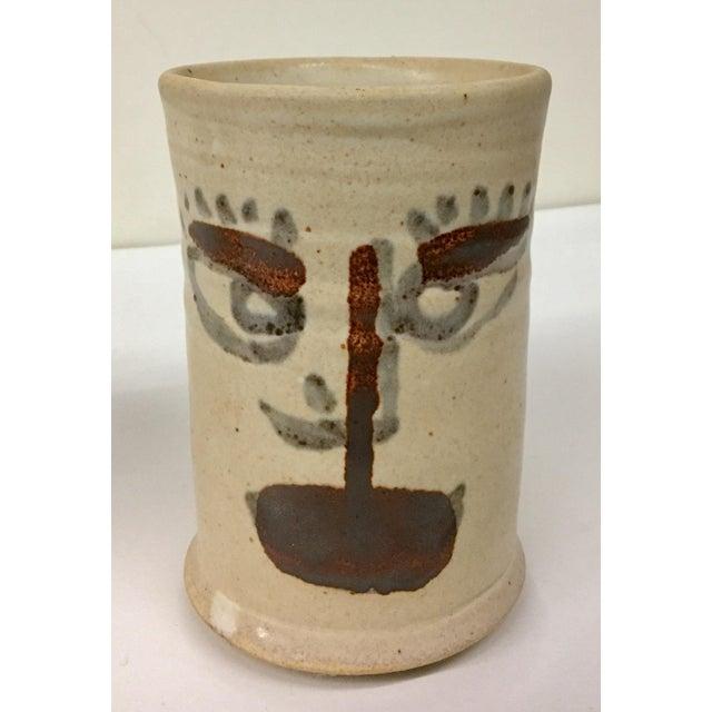 Artisan Hand Turned Stoneware Mugs - a Pair