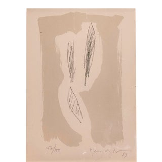 Small Abstract Lithograph by Joan Hernandez-Pijuan For Sale