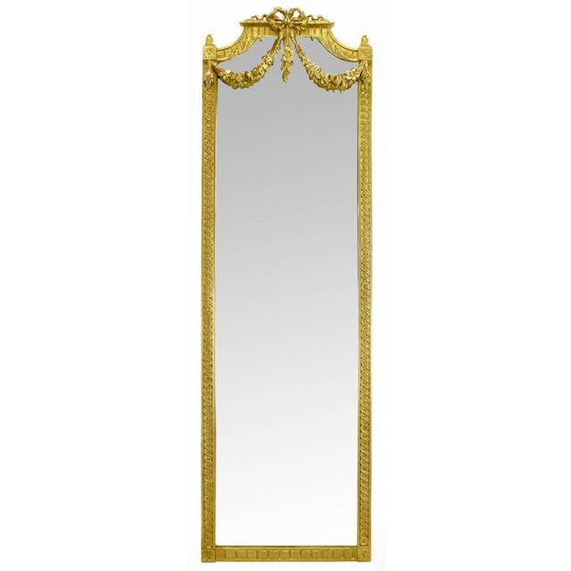 Wood Early 20th Century Italian Giltwood Phoenix Wall Mounted Console and Mirror For Sale - Image 7 of 11