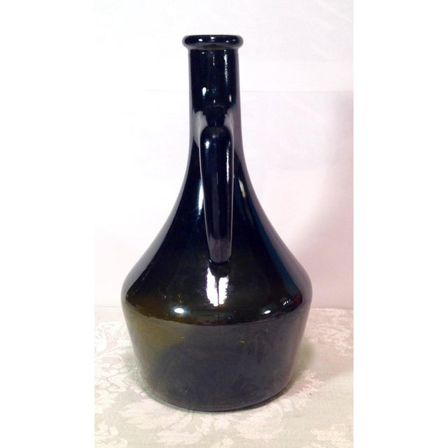 Italian Vintage Italian Dark Green Wine Bottle For Sale - Image 3 of 8