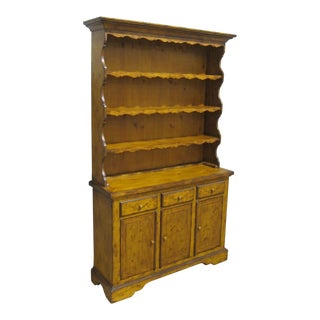 Vintage Sarreid LTD Pine Hutch For Sale