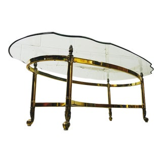 Vintage 1960s La Barge Glass Top Coffee Table For Sale