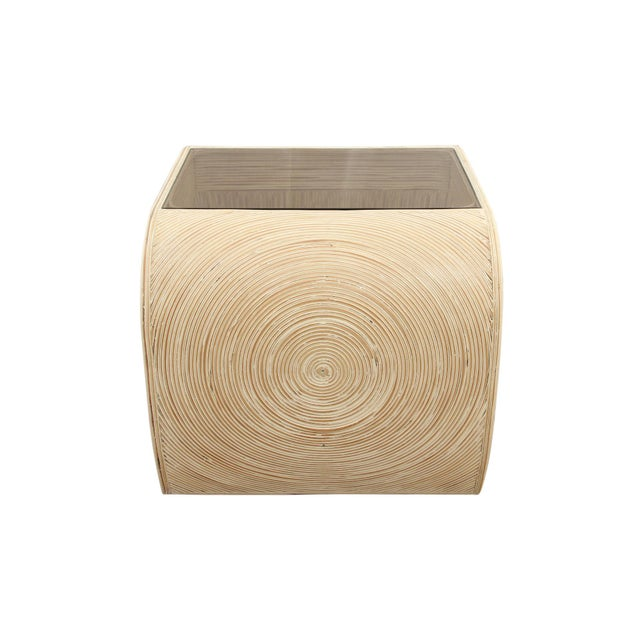 Asian Ming Gabriella Crespi Pencil Bamboo End Tables - a Pair For Sale - Image 3 of 5
