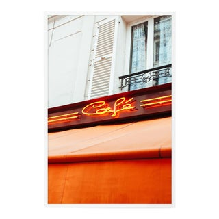Paris Café by Oliver Cole, Contemporary Photograph in White, Small For Sale