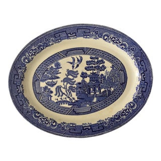 Vintage Woods Ware Willow Oval Platter For Sale