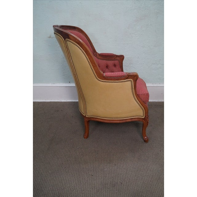 Hancock & Moore Louis XV Wing Bergere Chair - Image 8 of 10