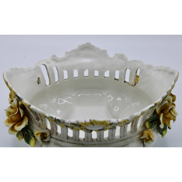 Italian Ceramic Footed Jardiniere For Sale - Image 9 of 13