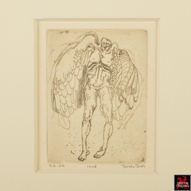 Abstract ICARUS Etching by Lee Baxter Davis 7574 For Sale - Image 3 of 5