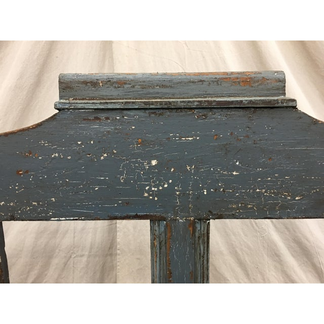 19th C Scandinavian Painted Hall Bench With Storage For Sale - Image 4 of 11