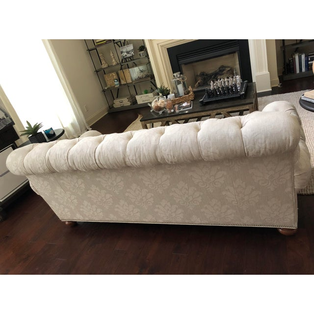 Traditional Hand-Tailored Ethan Allen Custom Made Chadwick Sofa For Sale - Image 3 of 4