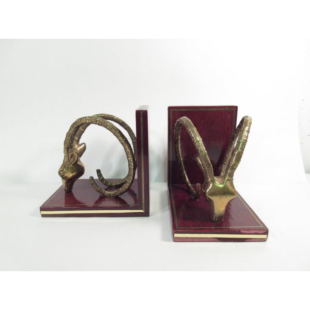 Vintage Ibex Brass Bookends - A Pair - Image 3 of 8
