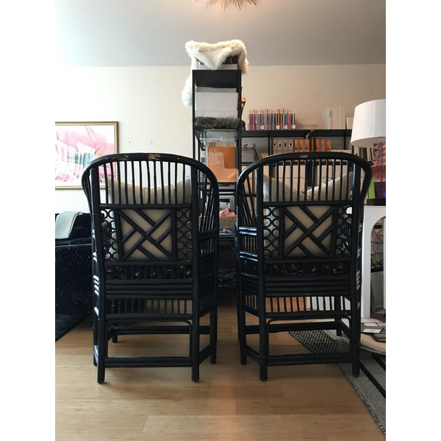 Chinese Chippendale Bamboo Chairs - A Pair - Image 4 of 11