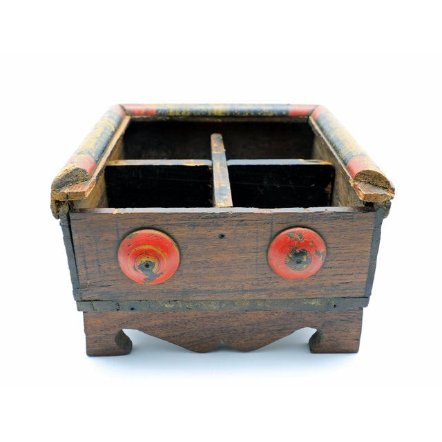 Wood 19th Century Antique Afghan Wood Spice Box For Sale - Image 7 of 13