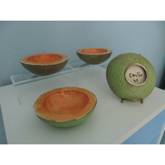 Vintage Cantaloupe Serving Bowls - Set of 4 For Sale - Image 4 of 13