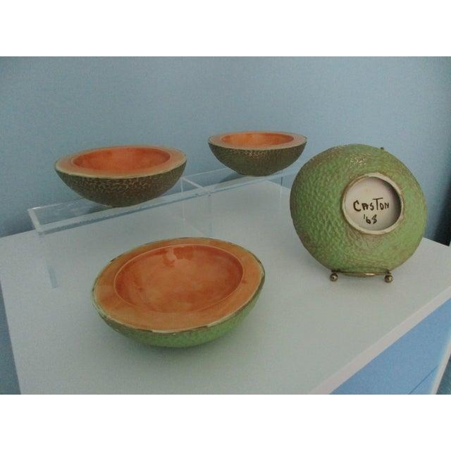 Vintage Cantaloupe Serving Bowls - Set of 4 - Image 4 of 13