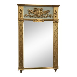 Carvers Guild Neoclassic Trumeau Mirror For Sale