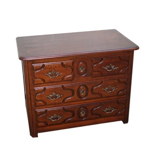 French Louis XV Style Walnut 3-Drawer Chest For Sale