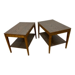 Mid-Century Modern Mersman Walnut End Tables - a Pair For Sale